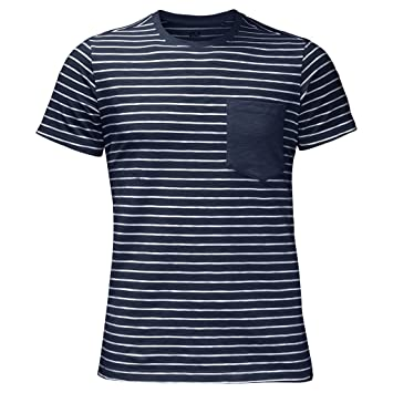 Jack Wolfskin Men's Travel Striped T Shirt: Amazon.co.uk