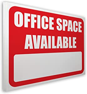 Visibility Signage 18x24 Office Space Available Lawn Sign with 6x24 H-Stake (3)