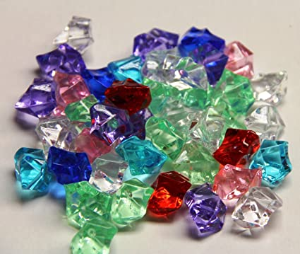 Amazon 2 Pounds Of Mixed Color Acrylic Ice Rock Vase Gems Or
