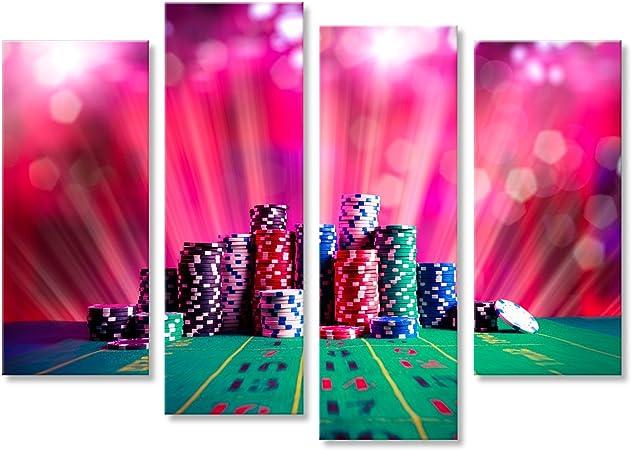 islandburner Cuadro Cuadros Fichas de póquer en una Mesa de Juego con una iluminación Espectacular Genial y Muy Bonito FUA: Amazon.es: Hogar