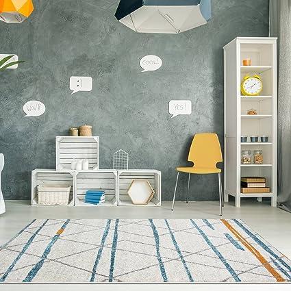 Amazon.com: Rio Modern Geometric Scandinavian Cream Off White Duck ...