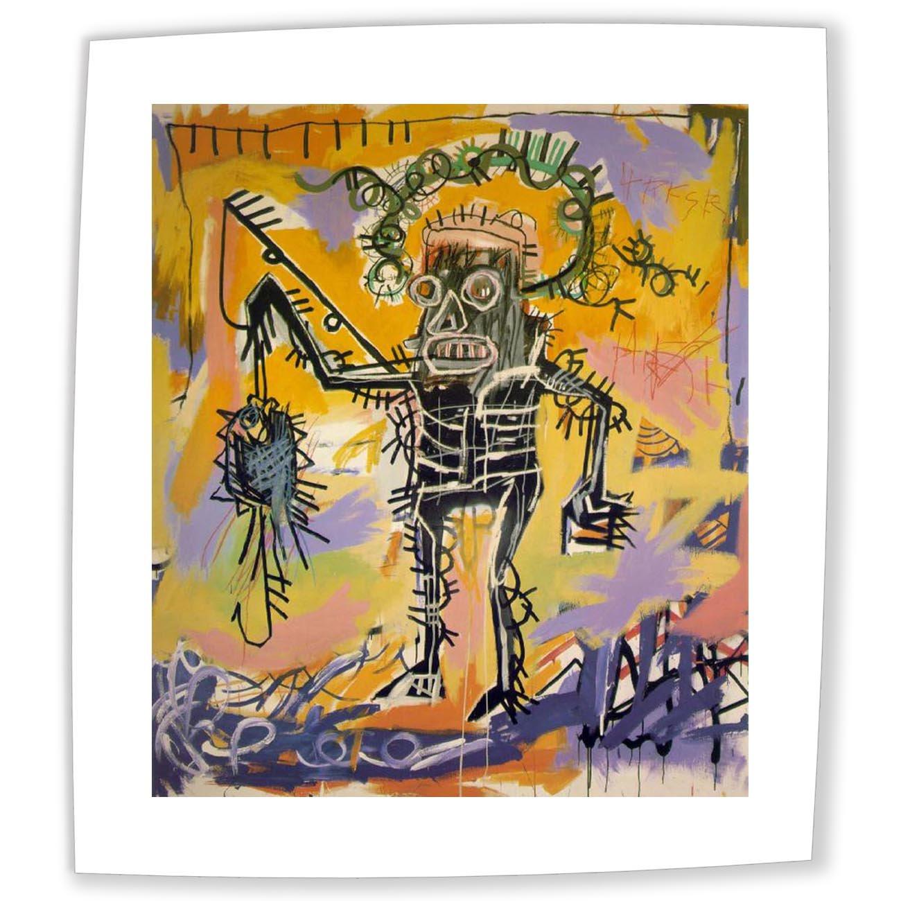 Amazon.com: Neron Art Jean-Michel Basquiat Fishing 1981 - Original ...