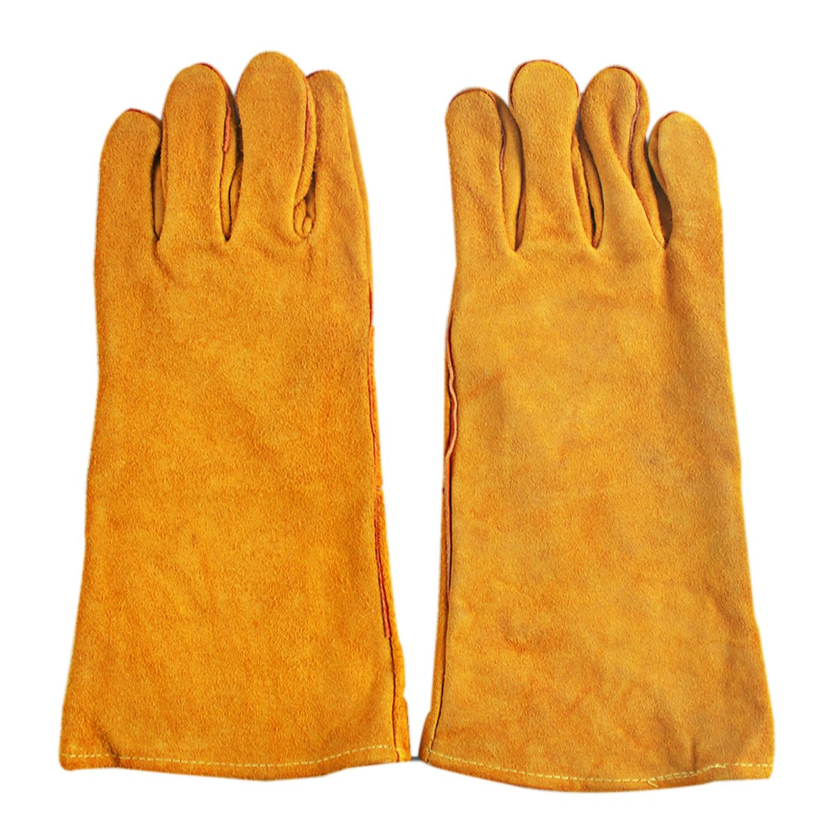 Rstar Professional welding protection Cowhide long welding gloves (Yellow)