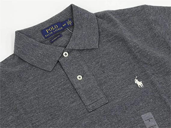 Polo Ralph Lauren 710705571019 Camiseta Hombre Gris L: Amazon.es ...