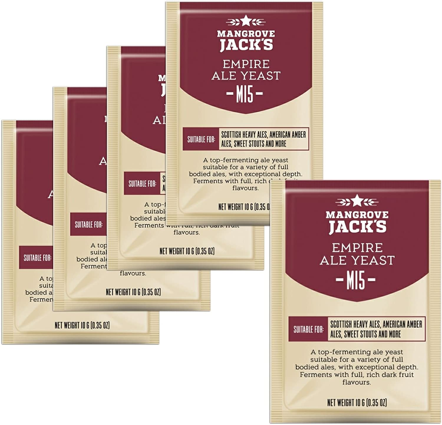 5x Mangrove Jack's Craft Series Yeast M15 Empire Ale (10g)