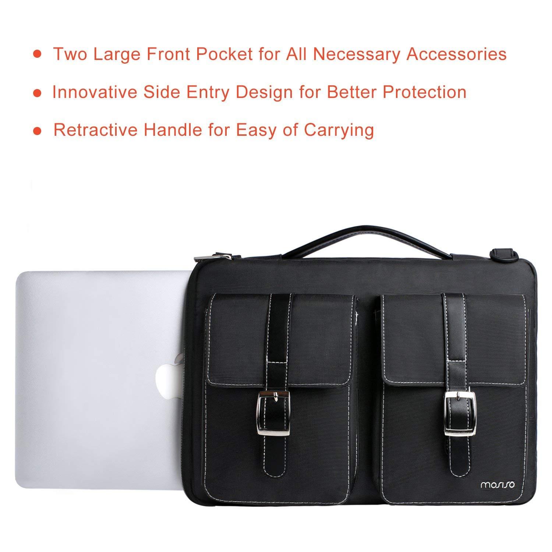 Resistente al Poliestere Spill Custodia Protettiva Borsetta Custodia Manica Cover MacBook Air con Tasche Organizer Nero MOSISO Laptop Spalla Borsa Compatibile 13-13,3 Pollici MacBook PRO