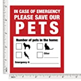 Pet Inside Finder Sticker - 4 Pack - Adhesive on