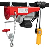 TUFFIOM 1320 LBS Lift Electric Hoist Crane, 120V Electric Winches Wire Remote Control, Carbon Steel Overhead Ceiling…