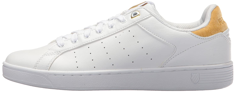 K-Swiss Sneaker Damen Clean Court CMF Sneaker K-Swiss Weiß/Bright Gold d1bd52