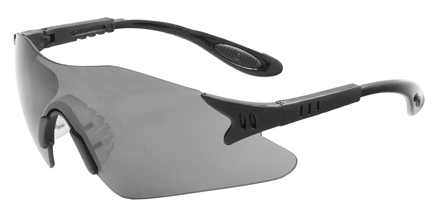 Gray Galeton 11842 Helium One-Piece Anti-Fog Anti-Scratch Lens Safety Glasses with Rubber Temple Grips /& Nose