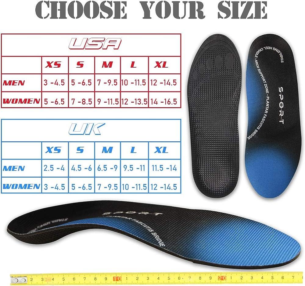 Inserts de chaussures Pour la fasciite plantaire Ambielly Support de larche Semelles orthop/édiques Confort Semelles Pour Hommes femmes
