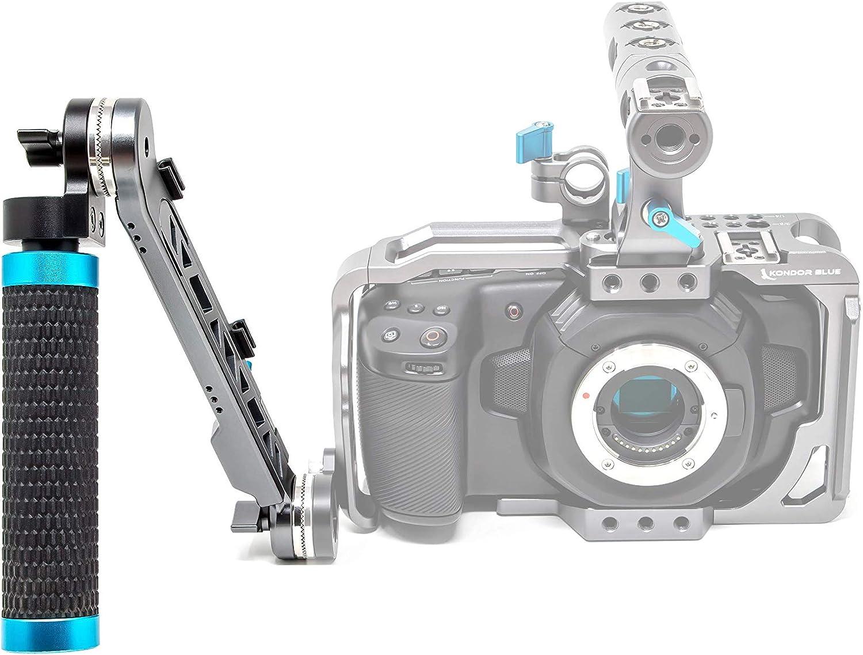 Extension Arm Left KONDOR BLUE Rosette Extension Arm Adjustable Length ARRI Rosette Shoulder Rig Camera Handgrip Extender RED URSA C500 F5 Alexa BMPCC 4K 6K