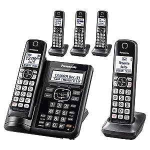 Panasonic KX-TGF545B Dect 5-Handset Landline Telephone