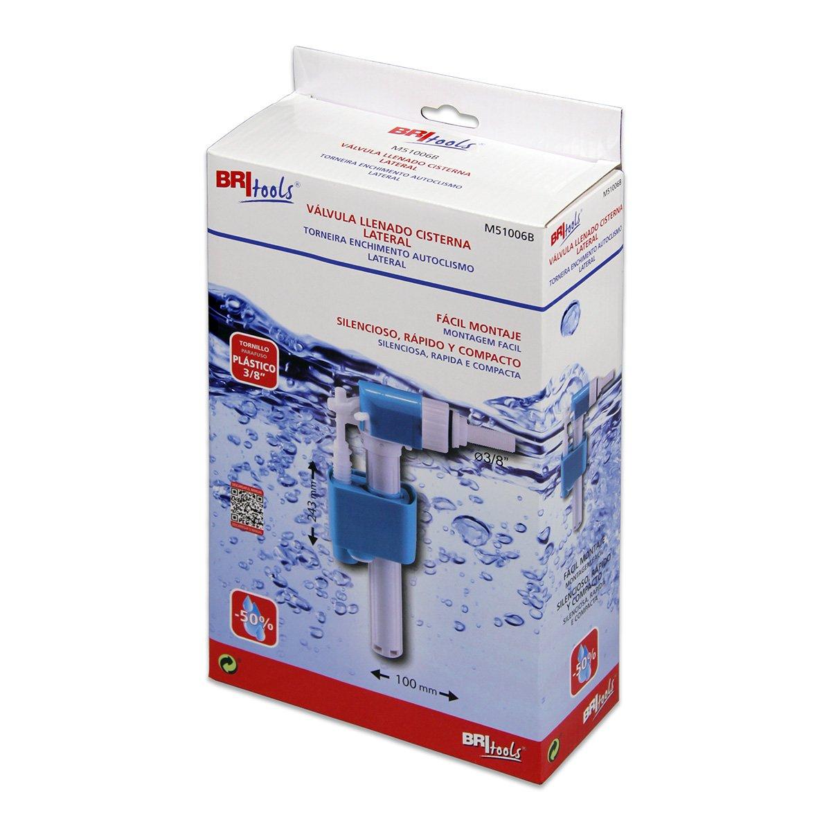 BriTools M51006L Válvula llenado cisterna WC Blanco: Amazon.es: Bricolaje y herramientas
