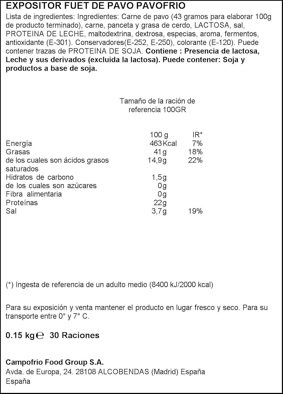 Campofrío Fuet de Pavo, 150g: Amazon.es: Alimentación y bebidas