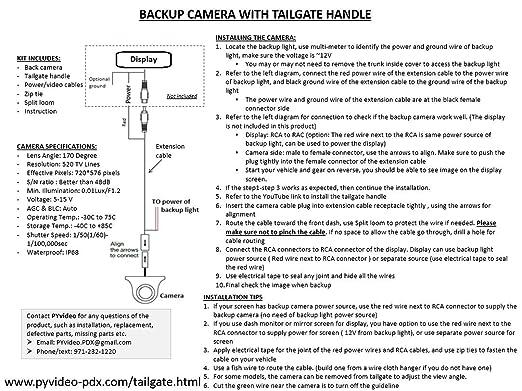 71AlsX4Wl8L._SX522_ amazon com pyvideo backup camera tailgate handle ford f150 f250