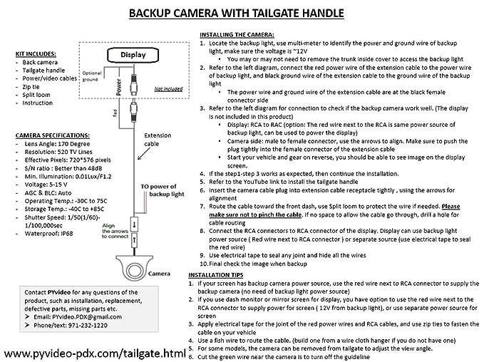 71AlsX4Wl8L._SX679_ amazon com pyvideo backup camera tailgate handle ford f150 f250