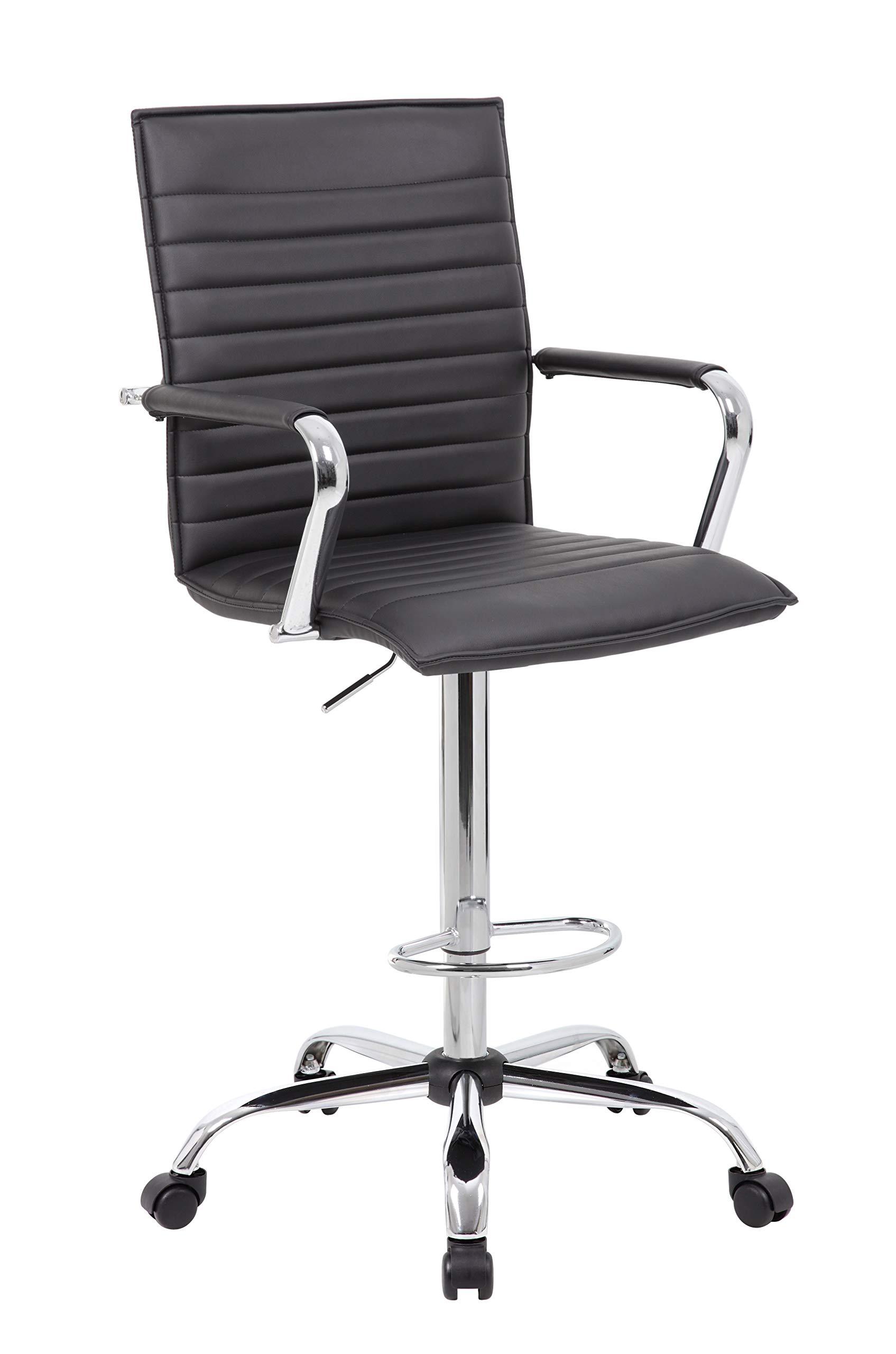 Boss Office Products B16533C-BK Drafting Stool, Black by Boss Office Products