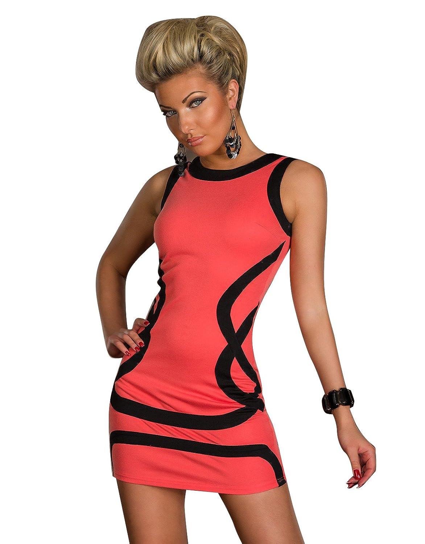 Blansdi Schwarz Sexy Kleid Minikleid Party Welle Fashionable Damen ...