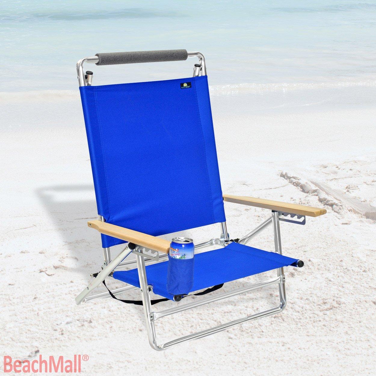 デラックス5 POS Layフラットアルミビーチ椅子W /カップホルダー B00OM7XGV2 530 530