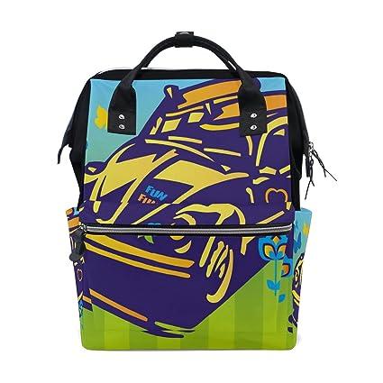 Bolsa de pañales para bebé de verano divertida con diseño de escarabajo, bolsa de pañales