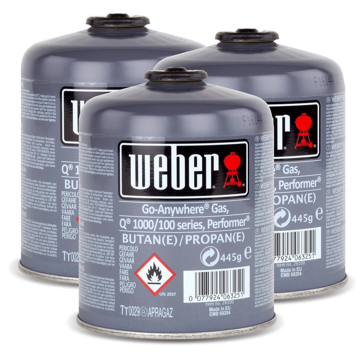 Weber Cartuccia Gas formato piccolo (445 gr) - da 3 pz