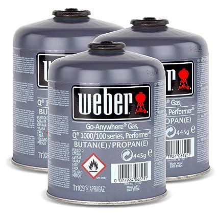 3 x cartucho de Gas Weber para Q 100 Serie y Performer touch-n-