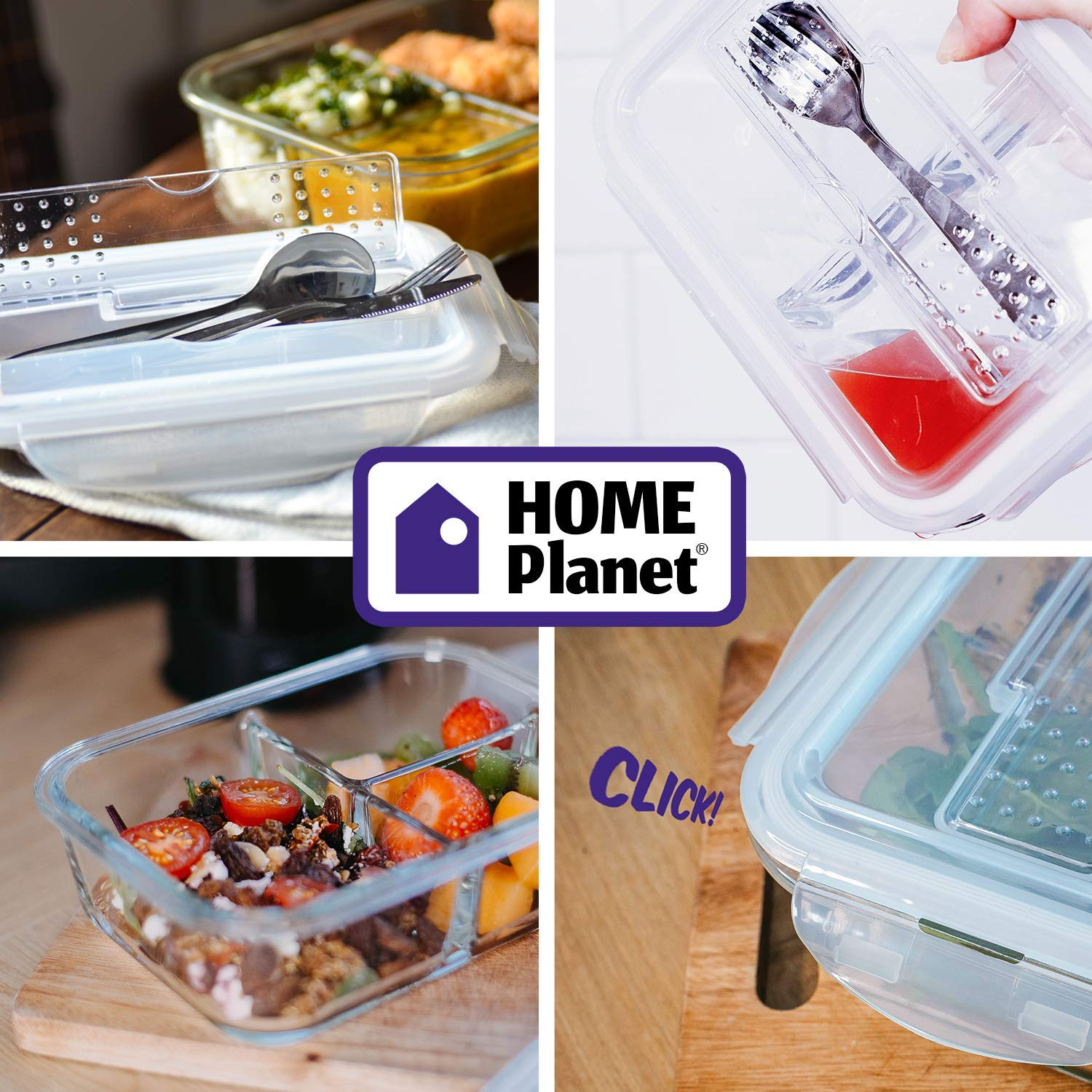 Home Planet/® Bo/îtes Alimentaires 1 Compartiment
