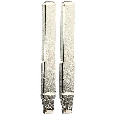 KeylessOption Keyless Entry Remote Fob Uncut Insert Flip Key Blade Blank for Ford 2013-2020 Fusion 2015-2020 F-150 F-250 Explorer (Pack of 2): Automotive