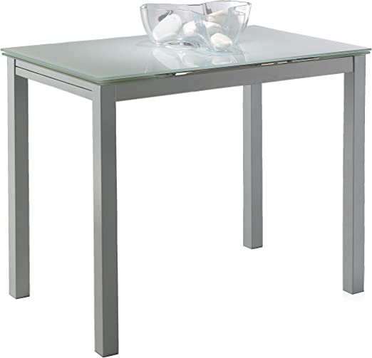 Miroytengo Mesa Cocina Cristal Extensible Color Blanco Estilo ...
