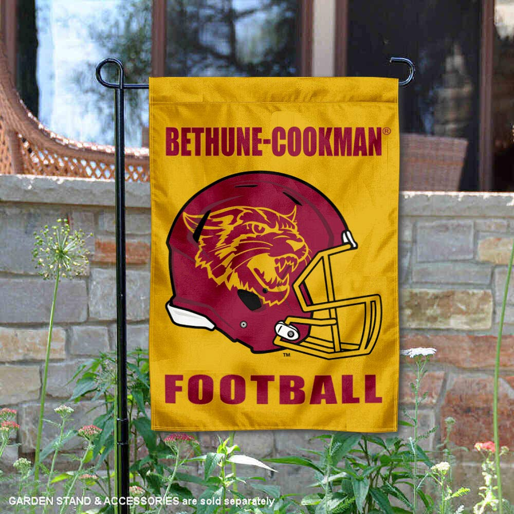 College Flags and Banners Co. Bethune Cookman ワイルドキャット フットボール ヘルメット 庭 旗