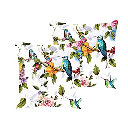Miraculous Buy Yaya Cafe Beauteous Bird Floral Flowers Printed Throw Ncnpc Chair Design For Home Ncnpcorg