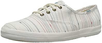 54d7a288961 Keds Women s Champion Slub Strip Fashion Sneaker Cream 6 ...