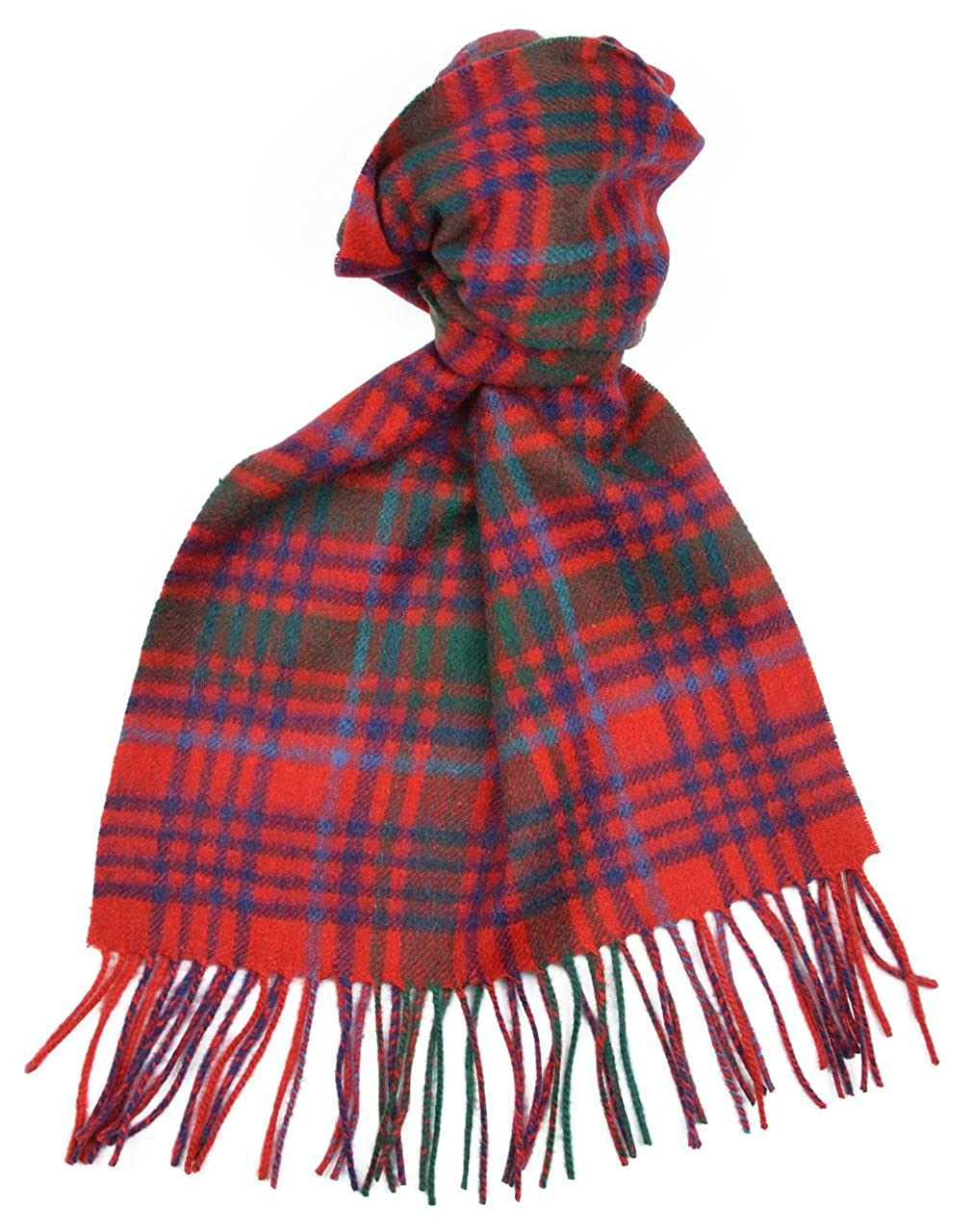 Lambswool Scottish Grant Modern Tartan Clan Scarf Gift