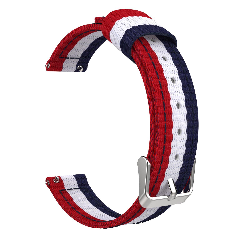 Moko 2 ArmbandUniversal 1 Für 45 Watchband Daniel 36mm Band Uhrenarmband Wellington '' Uhr 18mm Asus Wi502q Zenwatch Nylon Erstatzband Damen eE2YDH9WI