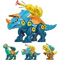 xuesnrol Take Apart Dinosaur Toys for Kids-4 Pack Large Easter Eggs Build Fighting Dinosaur Kit, Dinosaur Take Apart…
