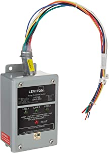 Leviton 32412-DS3 120/240/120 Volt, Hi-Leg Split Phase Delta Panel Protector, DHC and X10 Compatible, 80Ka Max Surge Current