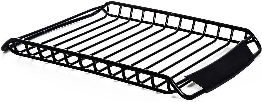 Dachgepäckträger Dachträger Dach Gepäckkorb Auto Universal Stahl 100kg Schwarz