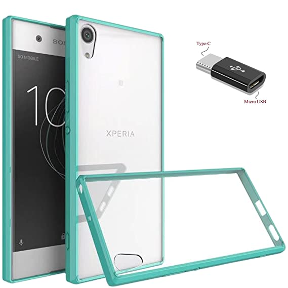 100% authentic 8b6ce 8fcdd Sony Xperia XA1 Ultra/Sony Xperia XA1 Ultra Dual Case With Micro USB to  Type c Adapter, Wtiaw Acrylic Hard Cover With Rubber TPU Bumper Hybrid  Ultra ...