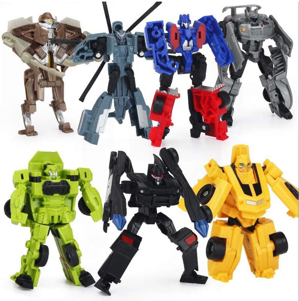 Siyushop Juego Completo de Modelos de Robots para Autos, Juego de Juego de 7 Robots y vehículos, Juguete de Rescate Mini Heroes Bots niños de 3-12 años, Regalo de cumpleaño: Amazon.es: Hogar