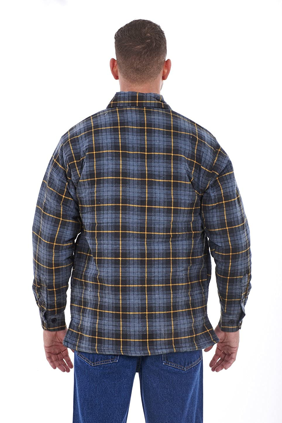 great variety styles attractive & durable beautiful in colour mens padded work shirts quilted cotton lumberjack shirt top coats jackets M  to XXL