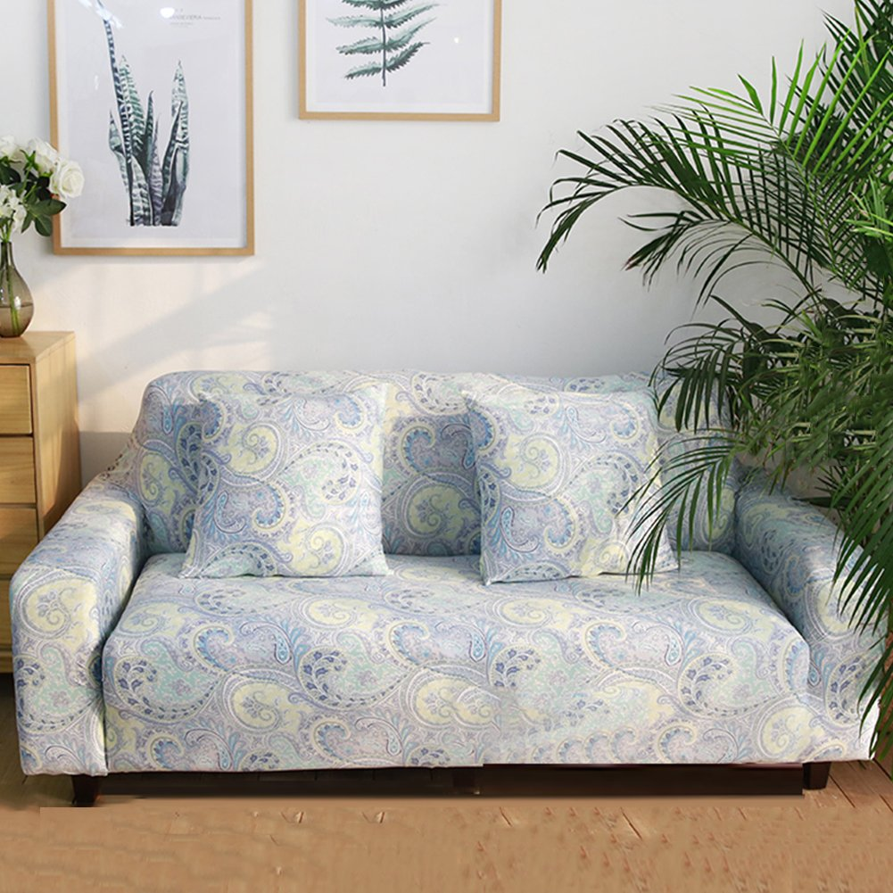 Funda de sofá estampada, reversible y lavable de Hotniu, elástica, 1 unidad, contrachapado, Pattern #7, 4 Seater for 235-300 cm: Amazon.es: Hogar