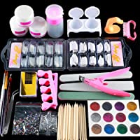 Coscelia Manicure Acrylic Nail Kit Nail Tips False Nails Nail Art Glitter Decoration Set