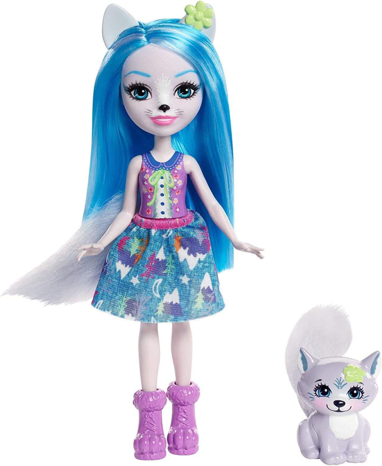 Enchantimals Winsley Wolf Doll (6-in) and Trooper Animal Friend [Amazon Exclusive]