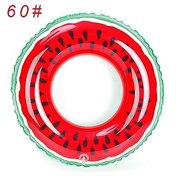 Última Sandía Anillo de natación General piscina inflable flotante para Colchones de aire para adultos juguetes acuáticos Playa Mat 60 rojo: Amazon.es: ...