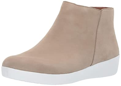 69dc9814c7f67d FitFlop Women s Sumi Suede SupercomFF Ankle Bootie Boot Taupe Size ...