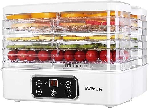 5 Tray Electric Food Dehydrator Dryer Machine Fruit Beef Jerky Preserver Kitchen