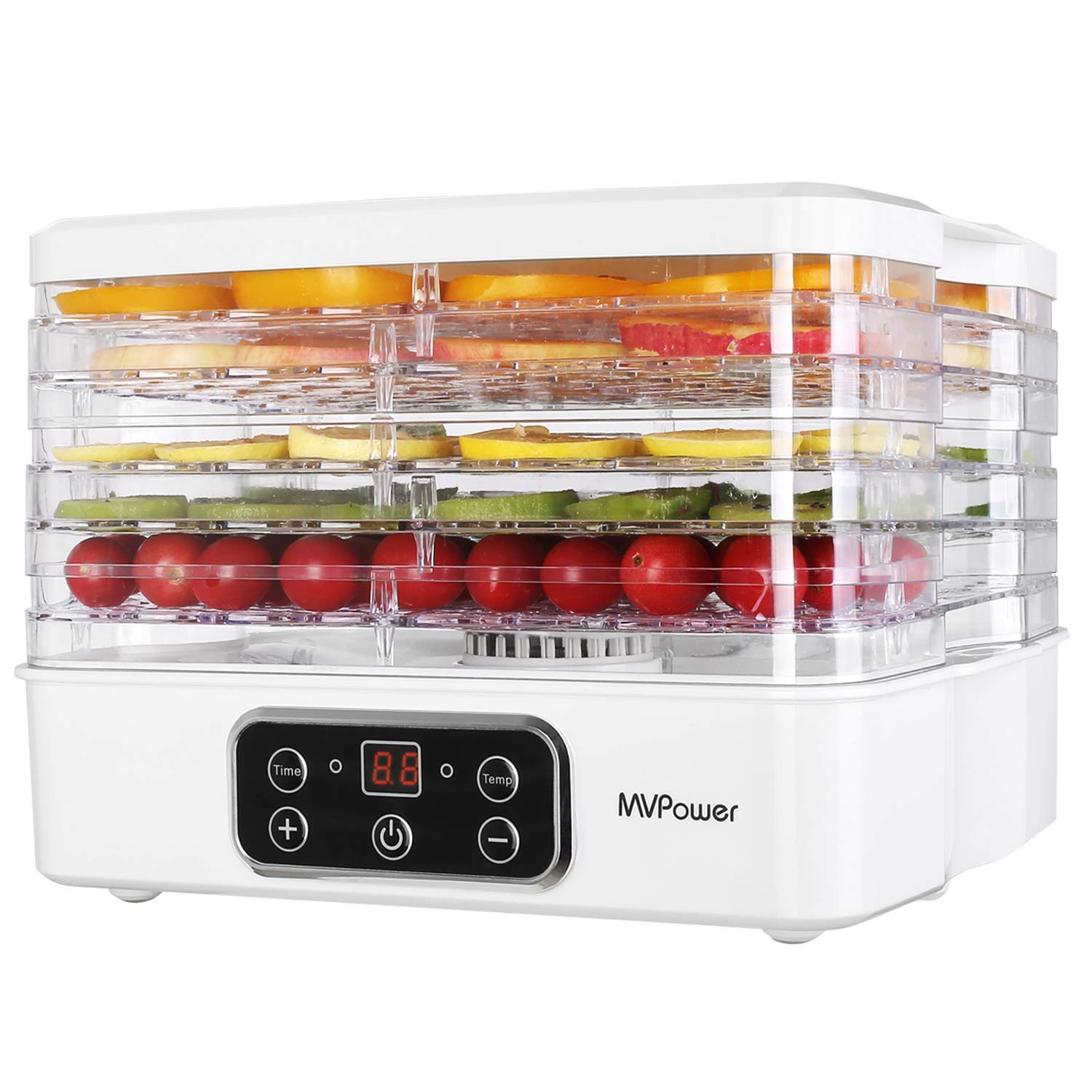 MVPower Food Dehydrator Machine Electric Food Dryer with Digital Temperature Controller, Professional Food Preserver for Beef Jerky, Dried Fruits, Vegetables, Herbs, Bread & Nuts