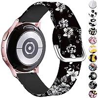 Vobafe Compatibel met Samsung Galaxy Watch Active Bandje/Active2 Bandje (40mm/44mm),Patroon Gedrukt Vervangende Bandje…