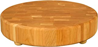 product image for Catskill Craftsmen Wood End Grain Round Cutting Slab with Feet